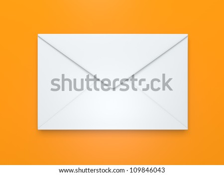 white envelope icon on yellow background