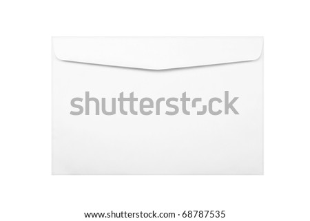 white envelope isolated on white - stock photo
