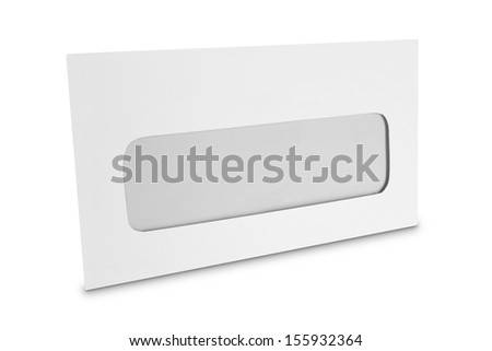 white envelope  isolated over white background ready for design