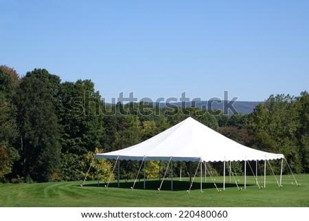 white events tent  - stock photo