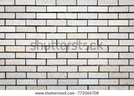 White Exterior Brick Wall