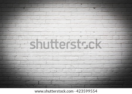 White Exterior Brick Wall with Vignette