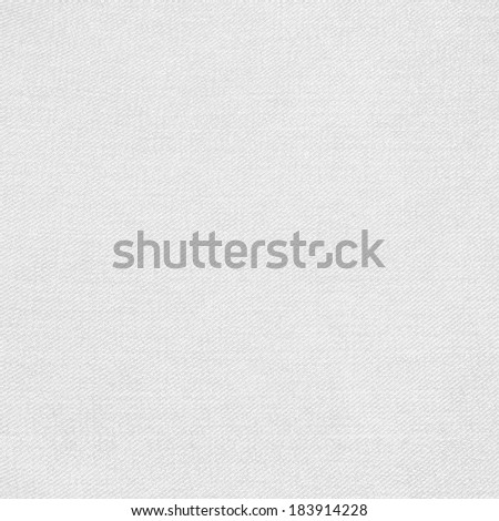 white fabric background and subtle canvas texture - stock photo