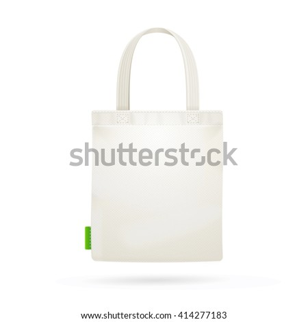 White Fabric Cloth Bag Tote. illustration