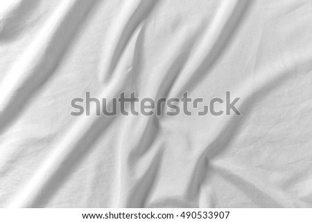 White fabric crease material texture background