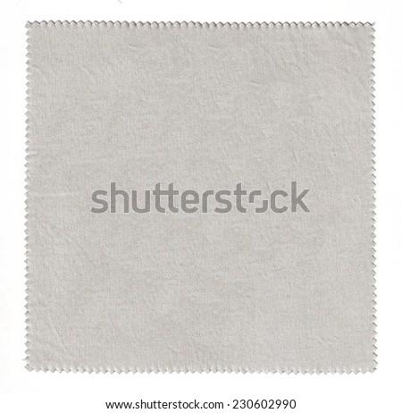 White Fabric Texture / handkerchief full screen - stock photo