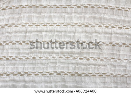 white fabric texture or clothes close up