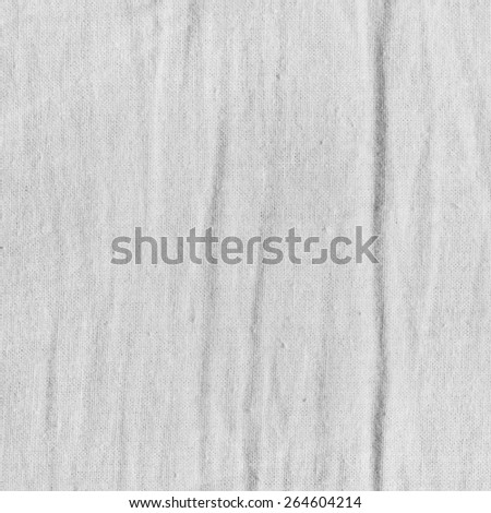 White fabric texture with delicate striped pattern. Natural cotton canvas background. - stock photo