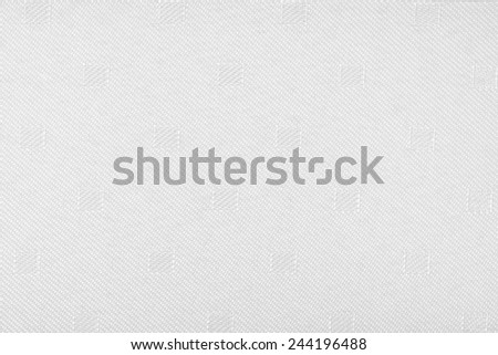 white  fabric texture with simple pattern - stock photo