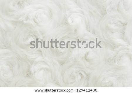 white fake fur texture background - stock photo