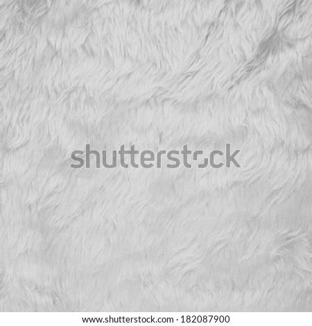 White faux fur texture background fragment - stock photo