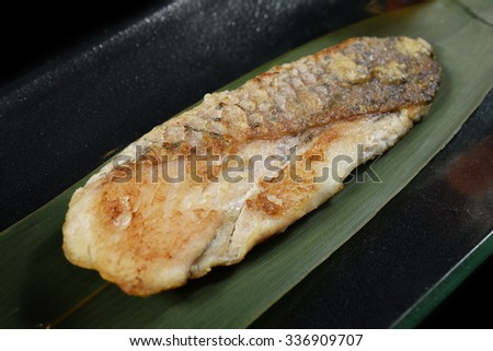 fish grilled with miso sauce japanese food style white fish grilled ...