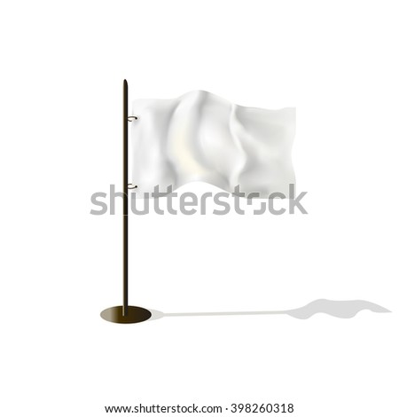 white flag background illustration