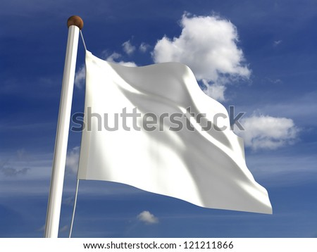 White flag (with clipping path)