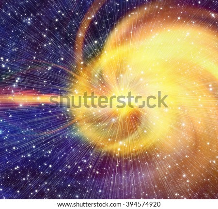 white flash in cosmos sky backgrounds - stock photo