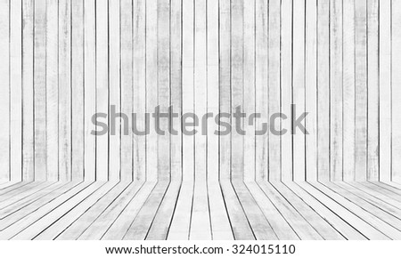 White floor and wall Wood Pattern background. - stock photo