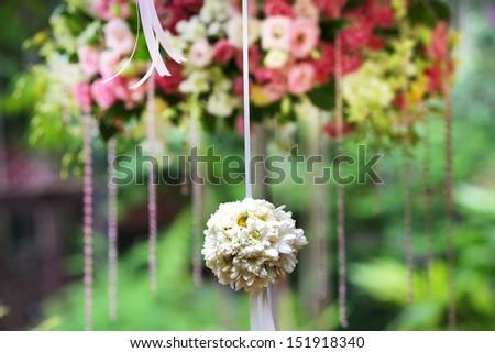 White flower bouquet - stock photo