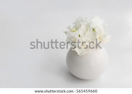 white flower bouquet in vase