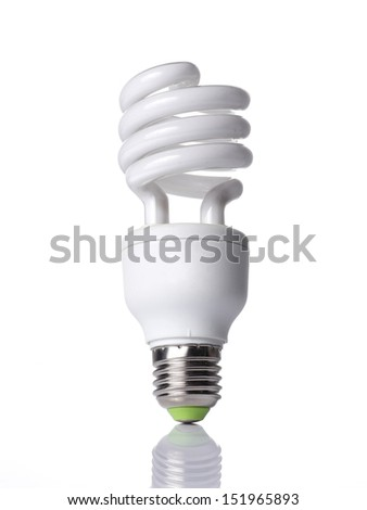 White fluorescent lamp on White background