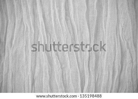 White folded veil material texture/background. - stock photo
