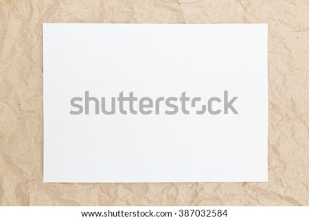 white form on a brown background