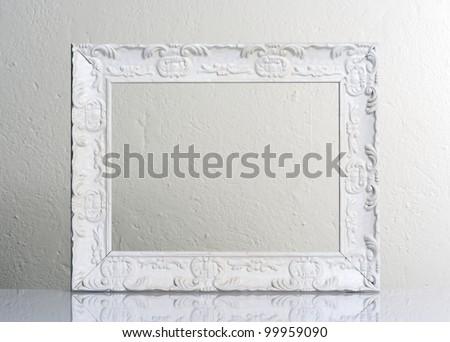 white frame - stock photo