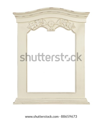 white frame isolated on white background - stock photo