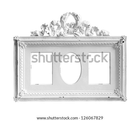 White frame on white background.