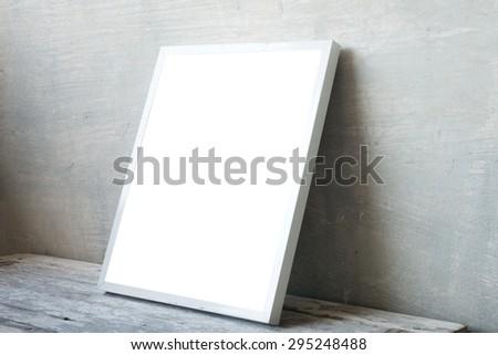 white frame style room interior - stock photo