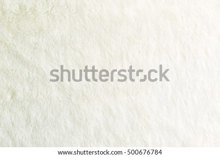 White fur background. Close up