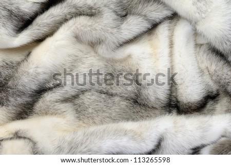 White fur mink background texture - stock photo