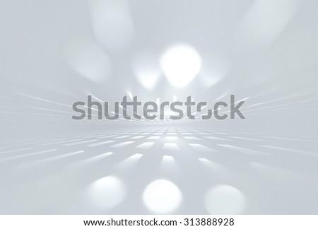 white futuristic background fractal horizon - stock photo