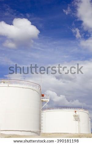 White gas reservoir - stock photo