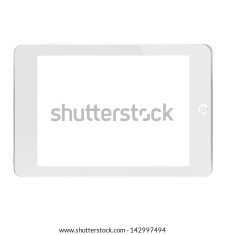 White generic computer tablet. - stock photo