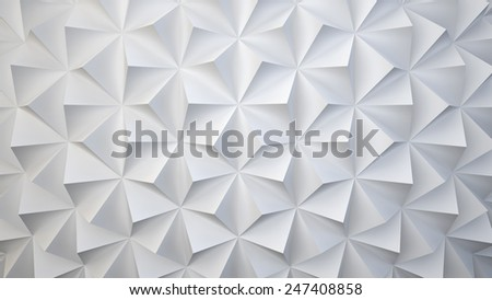 White geometric surface from pyramids, you can overlay your own image  - stock photo