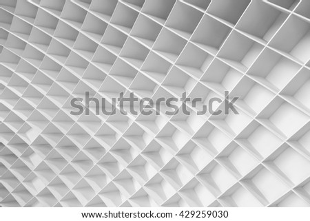 White geometric wall facade background