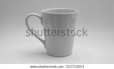 White glass with grey background