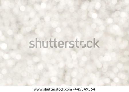 white glitter luxury bokeh background for christmas happy new year - stock photo