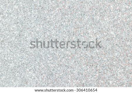 white glitter texture christmas background - stock photo
