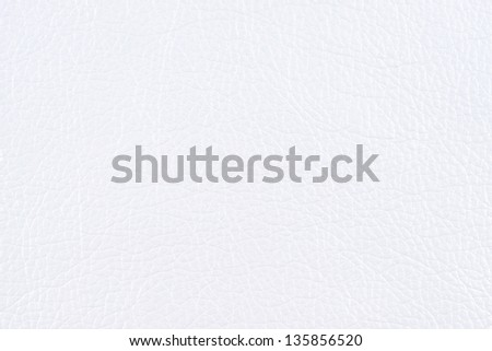White glossy faux leather texture - stock photo