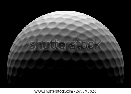 White golf ball in the dark, illustration done in low key - stock photo
