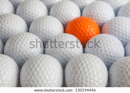 White golf balls in the box