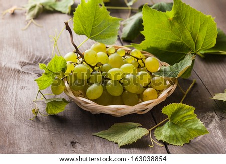 White grape - stock photo