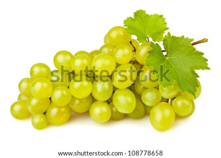 white grape on white background - stock photo