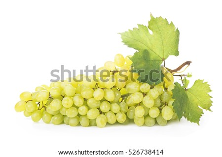 white grape on white background