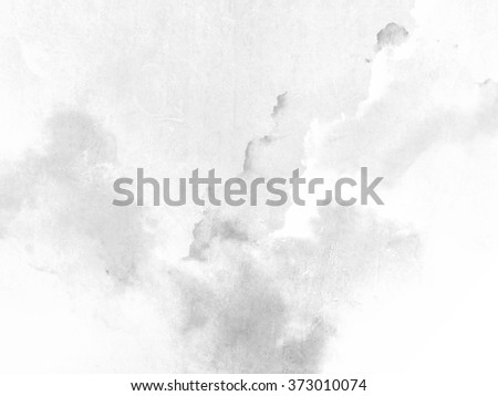 White gray background with soft watercolor texture - stock photo