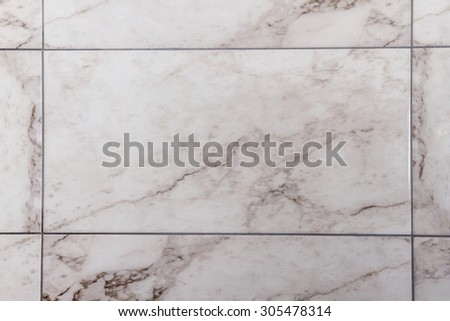 White, gray marble like ceramic tile for bathroom decoration - stock photo