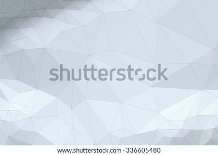 White grayish abstract polygonal surface - horizontal background - stock photo