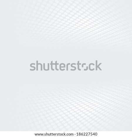 White & grey abstract perspective background (Raster version - A bit lightened tone) - stock photo