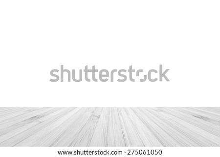 White grey color tone wood floor for interior background - stock photo